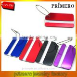 Aluminum luggage tag boarding card checked trolley case signage colorful dogtag key chain