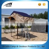 Auto camper tent 4x4 off road roof top tent for camping with side awning