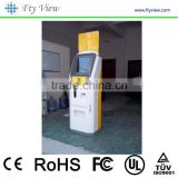Floor Standing Hospital Self Service Kiosk Equipment / Barcode Scanner and A4 printer Hospital Self-service Terminal