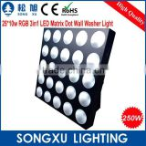 professional 25x10w rgb led blinder led wash light club light for bar party satge decoration