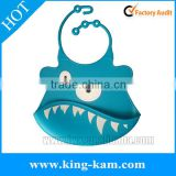 2014 china supplier wholesale good quality new silicone baby bibs FDA Standard Non-toxic silicone baby bib