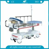 high-level AG-HS006 hospital al alloy handrail hydraulic ambulance stretchers