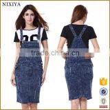 overall colorful overalls long blue jean skirts for women
