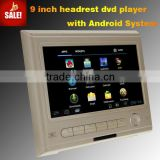 9 inch headrest Android monitor Built-in WIFI USB 2.0 Support HD 1080P Video Format