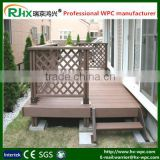 outdoor waterproof wooden flooring in composite wood plastic deck