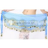 Fancy 3 Rows Coin Layer Hip Belt Of Belly Dance Hip Scarf                                                                         Quality Choice