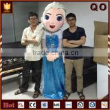 Attractive frozen princess elsa mascot costume for commercial use