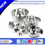 High quality stainless steel 5pcs measuring spoons and 4pcs basin                                                                                                         Supplier's Choice