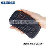 Wireless Mini Gaming Keyboard and Touchpad Mouse Combo for Raspberry Pi / XBMC / Android and Google Smart TV Box