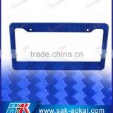 Carbon Texture Plastic USA Car Number Plate Frame, License Plate Frame