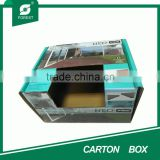 BEAUTIFUL COSMETICS PACKAGING GREEN CARTON BOX WITH WINDOW