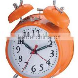 4.5 inch metal case mechanical alarm clock movement, desktop clock