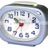 Plastic oval shape table alarm clock