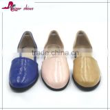 2016 fashion casual design high quality leather ladies wholesale china flat shoes
