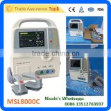MSL8000C-i PORTABLE BIPHASIC DEFIBRILLATOR WITH ECG, RESPIRATION, NIBP,SPO2 FUNCTION