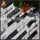Quartzite Cultured Stone, Black and White Quartizte, China Quartizte White Quartzite Cultured Stone
