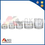 The Most Popular transparent Cosmetic Cylinder cream acrylic Jar