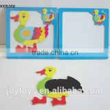 New design wooden magnetic cartoon duck puzzle,Educational toy puzzle game for kid