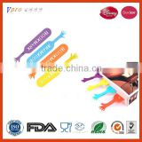 Dsiney Audit Factory Colorful Silicone Bookmark With FDA LFGB