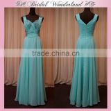 Satin beads mother of bride dress