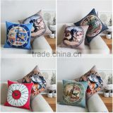 plain classic retro British wind antique clock digital printed cotton linen dec office sofa chair lumbar Cushion pillow case
