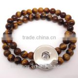 CJ2559 charm brass finding, tiger eye beads bracelet jewelry,snap button charm jewellery