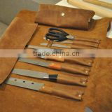 Custom high quality leather chef knife roll                                                                         Quality Choice