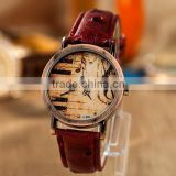 New watch wholesale retro note piano keys dial leather watch men and women fashion brand watches