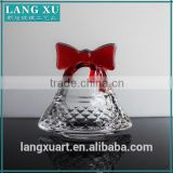 LX-D003 manufacturer personalized christmas ornament small glass bell ornaments molds