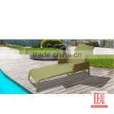 Manufacturer wholesale Beach chair Rattan Chaise Lounge Swimming Pool Sun Lounger