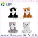 Toys For Baby Cat Kitten Plush Soft Toy White Black Ginger Grey 16cm