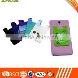 cell phone card holder wallet smart sleeve soft silicone mobile pocket                                                                         Quality Choice