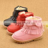 C19 Hot Baby Girl Boy pink Shoes Anti-Slip Toddler Soft Sole Winter boots