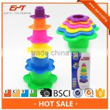Funny intelligent baby bath toys stack cup