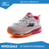 ERKE wholesale factory dropship flyknit mesh jelly outsole fashion brand womens air running shoes