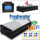 WiFi Version smart Freshwater fish live led aquarium light red and green cool white daisy chain with 1 controller 240cm
