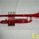 Brass wind instrument Bb colorful red trumpet--554