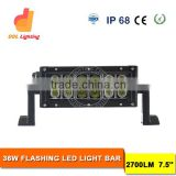Auto parts 36W Color Change RGB LED Light bar for truck 7.5 inch Epistar led light bars
