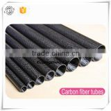 2015 New Arrival High Quality Glossy Carbon Cloth Pattern Oval / Round Paddle Shaft 3K Carbon Fiber Tube
