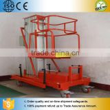 Tilt-back hydraulic single mast warehouse lifting equipment
