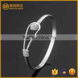 Best selling silver plated flower bangle costume jewelry for women fashion bracelets jewellery wholesale