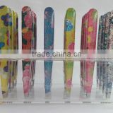 Slanted Tip Type and Stainless Steel Material lady tweezers eyebrow tweezer lady design tweezers