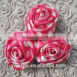 New arrival High Quality factory direct sale cheap china wholesale satin ribbon roses flower for wedding decoration