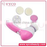 5 in 1 Electric Wash Face Machine Pro Face Massager Facial Pore Cleaner Body Cleaning Massage Mini Skin Beauty Massager Brush