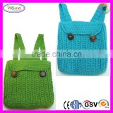 B464 100% Handmade Backpack Crochet Polyester Yarn High Quality Crochet Backpack