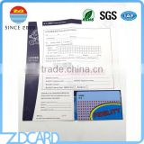 OEM Supplier High Quality Market Leaflet with Gift Card