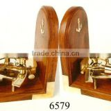 Wooden Brass Nautical Sextant Bookend / Promotional Gifts / Corporate Gifts