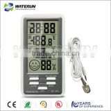 digital thermo hygrometer and clock with alarm