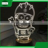 acrylic cartoon 3D charging charge study led reading eye protection desk table latern lamp light