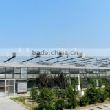 Aluminum frame Glass Greenhouse PC greenhouse with aluminum structure single span with automatic ventilation greenhouse